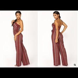 7d715fc43ddf Fashion Nova Other - Shanice Stripe Jumpsuit